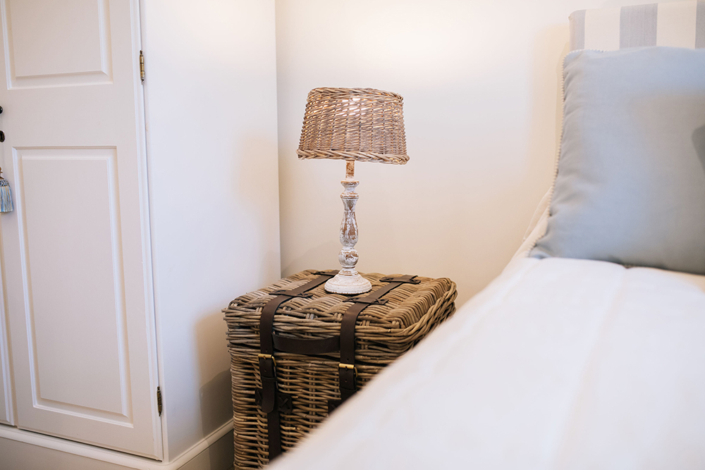 Bedside lamp in the single bedroom in The Cottage