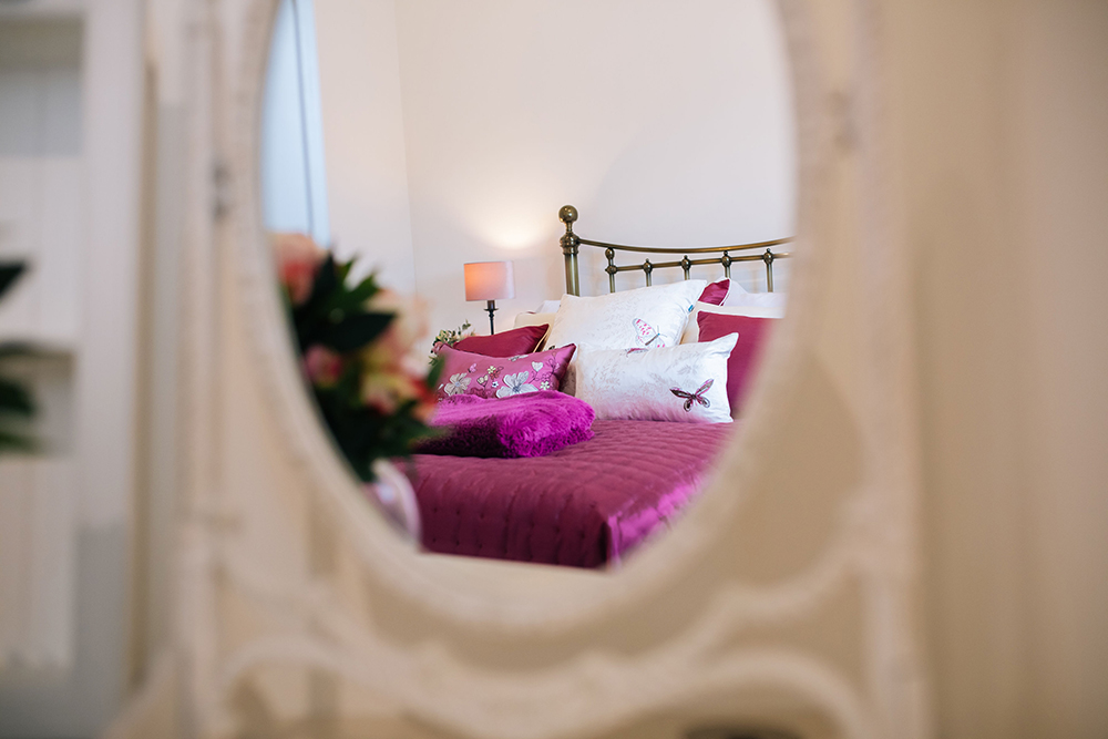 Double bedroom at Further Harrop Cottage