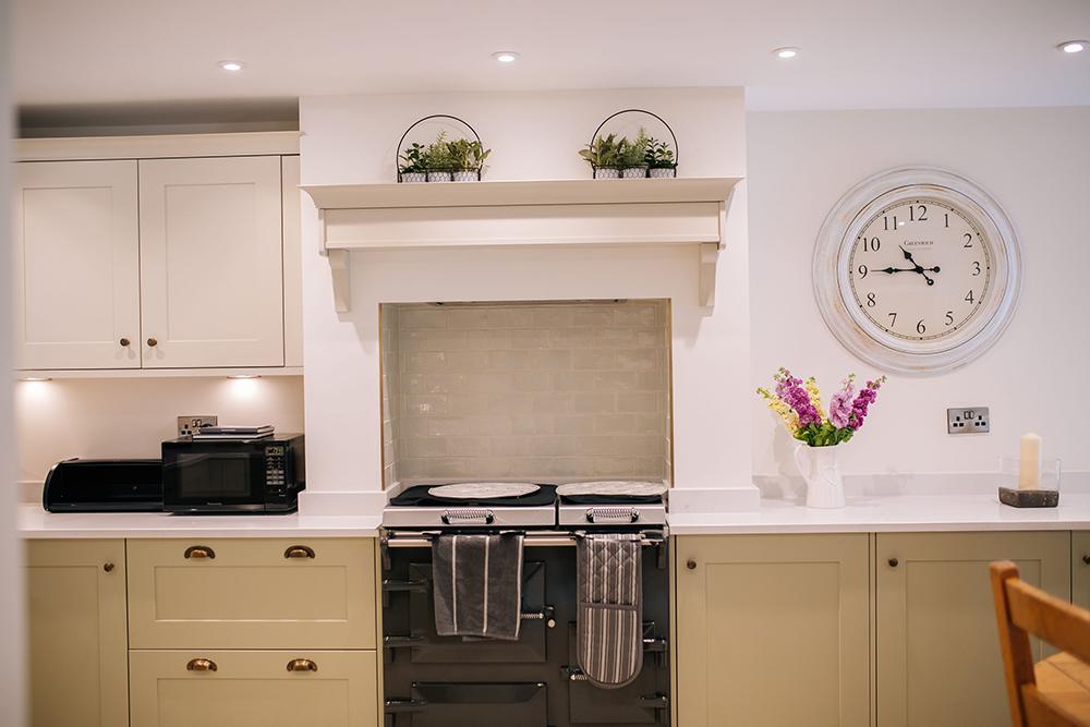 Everhot range cooker in The Cottage kitchen