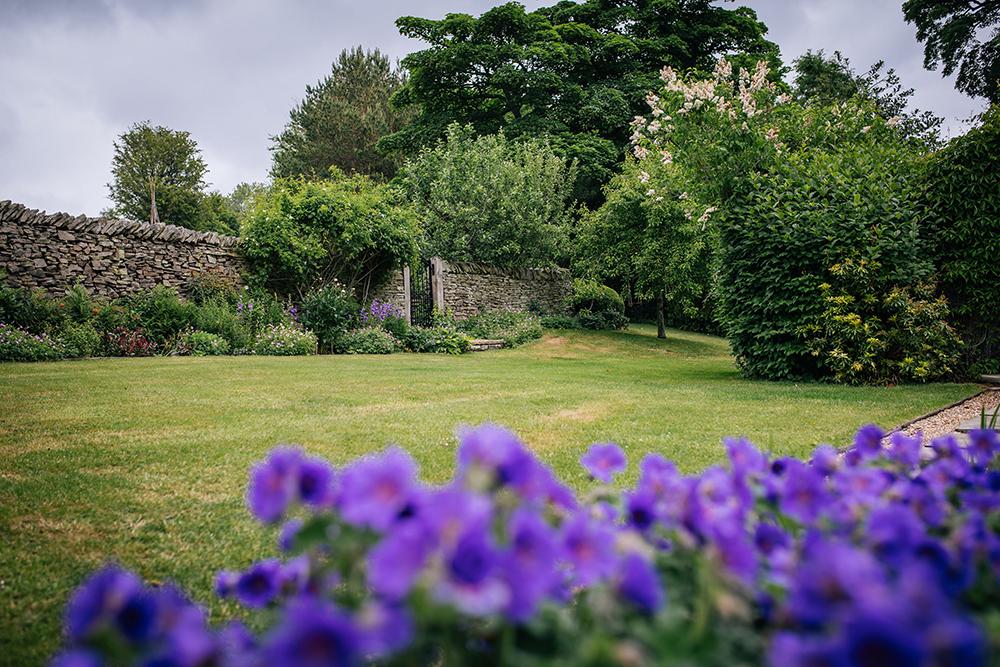 Garden space at Further Harrop Cottage