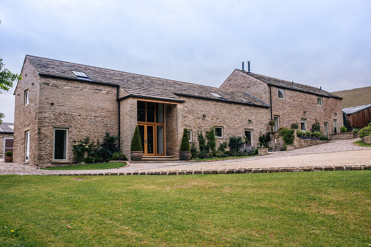 Walking into the The Cottage - in the Peak District - self-catering accommodation sleeps 5