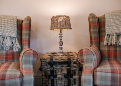 armchairs in the living room at The Nook