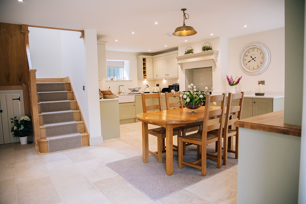 as you walk into The Cottage - Further Harrop Farm