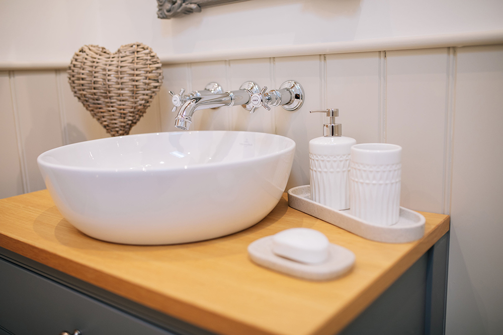 bathroom accessories in The Cottage at Further Harrop Farm