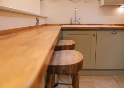 breakfast bar in the kitchen in The Nook
