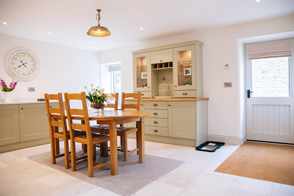 dining area at The Cottage at Further Harrop