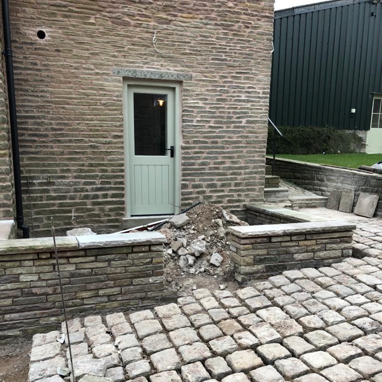 more stonework at the Harrop Farm Cottages