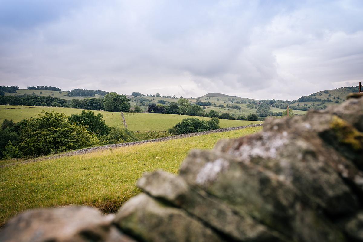 Beautiful scenery of the Peak District surrounding Further Harrop Farm